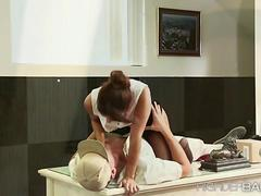 Sexy Isabella fucks the guy cause she can fuck anyone