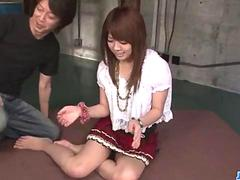 Miyu Aoi gets her little pussy pounded spoon style in bed