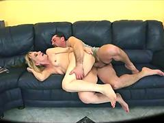 Hot blonde granny takes rough anal
