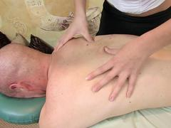 Busty masseuse pleases her client