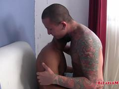 hot latino fucking tatted bottom bareback movie