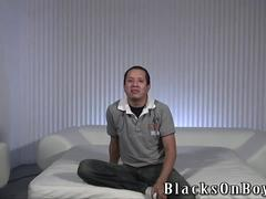 Bit chubby latino amateur guy gets assfucked by black dudes