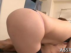Japanese slut fucked deeply in a hospital bed
