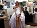 Bitch pawns her wedding dress and screwed at the pawnshop