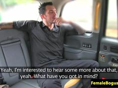 Throating female cabbie fucking cop outdoors