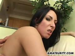 Amateur girlfriend anal 3some with facials