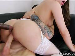 Casey Calvert gets double penetrated by jumbo black cocks