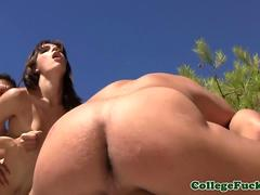 Girl spits in guys mouth