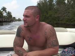 Chubby wench gets fucked on a boat
