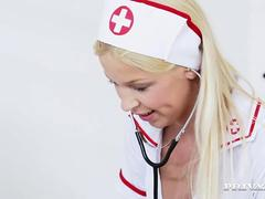 Slutty Nurse Karol Lilien Treats a Patient to Her Warm Pussy