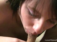 Black haired girlfriend knows how to suck well