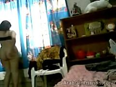 Horny Arab beauties videotape themselves in shower
