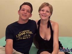 Raunchy blonde with big naturals gets slammed