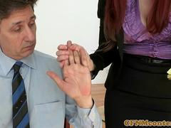 Dominant cfnm babes trying out two cocks