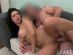 Kira Queen gets her god like body fucked by fake agent