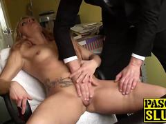 Sweet blonde MILF Brittany Bardot fingered hard by Pascal