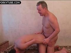 Boy sucks old big dick