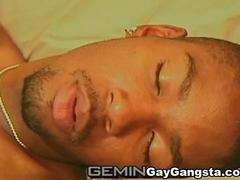 Hot Blacksome Gangstas Love Blowjob