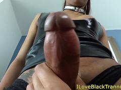 Deepthroating lesbian shemales loves gagging