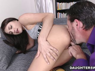 DaughterSwap - Hot Teen Cam Girl Caught And Fucked by BFFS dad
