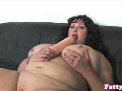 Plumper BBW doggystyled until cumonboobs