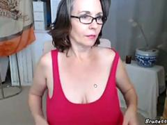 old woman shows her big shaggy tits movie