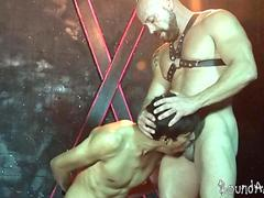 hunky twink slave gives head to a mature sm stud video