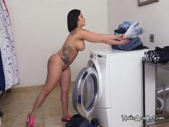 Hot Maid Kitty Caprice Gets Naked While Cleaning