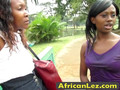 Adventurous African Lesbians Sakina And Kisima Fuck In Bathroom