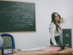 Naughty French teacher Anissa Kate loves anal