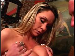 Bridgette Monroe getting fucked and eating cum load