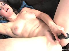 Her black dildo is enough to satisfy