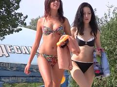Nudist beach video of really sexy tight bitches