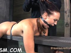 chained up babe is punished clip feature 1
