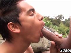 Twink gets facial sucking
