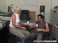 German Granny Takes Young Dick In Office