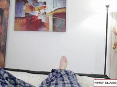 First Class POV - Beautiful Eden Sin gets fucked by a huge hard cock