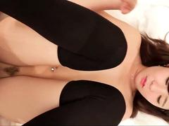 Asian girl first time HJ