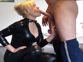 Milf In Catsuit Fucked Until Orgasm