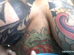 Tattoed and Pierced Milf Fucking