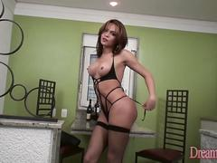 Young Transsexual Viviane Rios Has Her Ass Rimmed and Fucked by a Guy