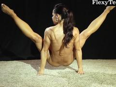 Hot ass gymnast dancing