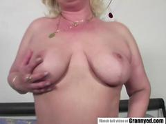 Chubby mature woman and her step-son