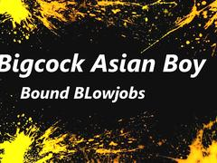 Bigcock AsianGuy Bound Blowjob