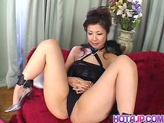 Marin Asaoka looks eager to try cocks in each of her holes