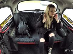 Innocent blonde banged in fake taxi