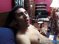 Straight hunk solo toying