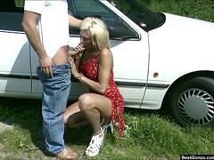 Roadside Fuck For German Milf Nicoletta Blue