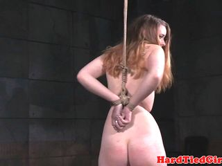BDSM sub g string tied and whipped by maledom