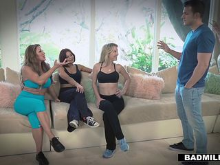 BadMILFS - Milf Shares Stepson Cock With Friends